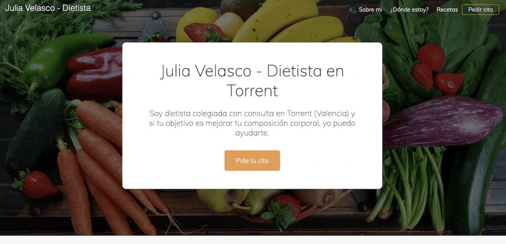 Página inicial de Julia Velasco