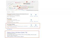 Posicionamiento en google de juliavelasco.com